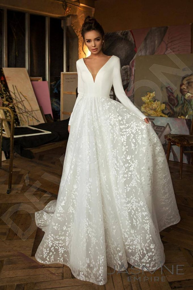 long sleeve wedding dresses on Etsy