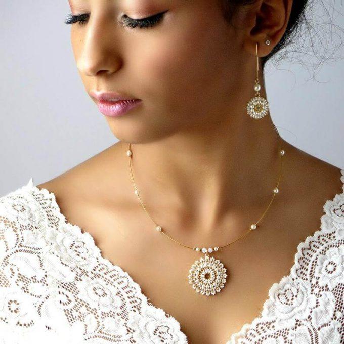 beaded bridal jewelry