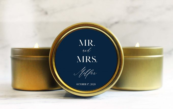 bridal shower candle favors