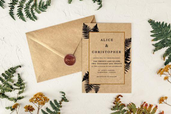 fern wedding invitations