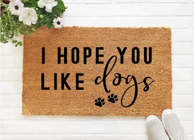 cute dog doormats