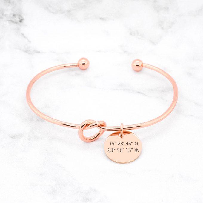 knot coordinates bracelet
