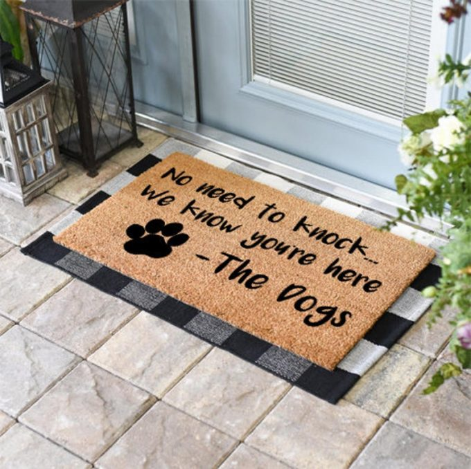 funny dog doormats