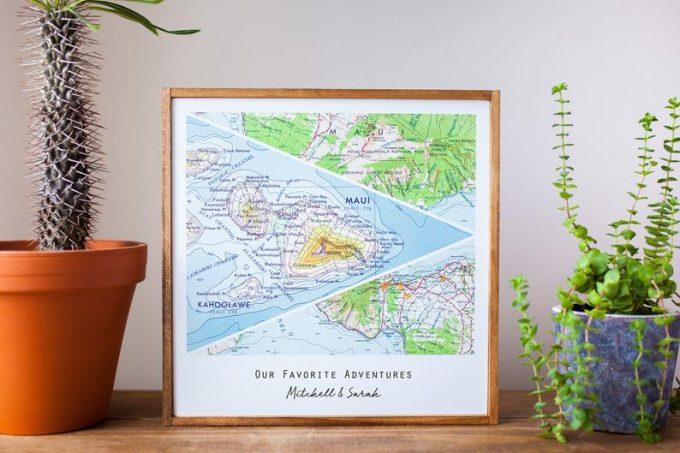 personalized map art