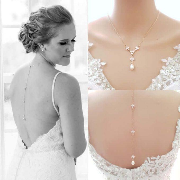 back necklace wedding