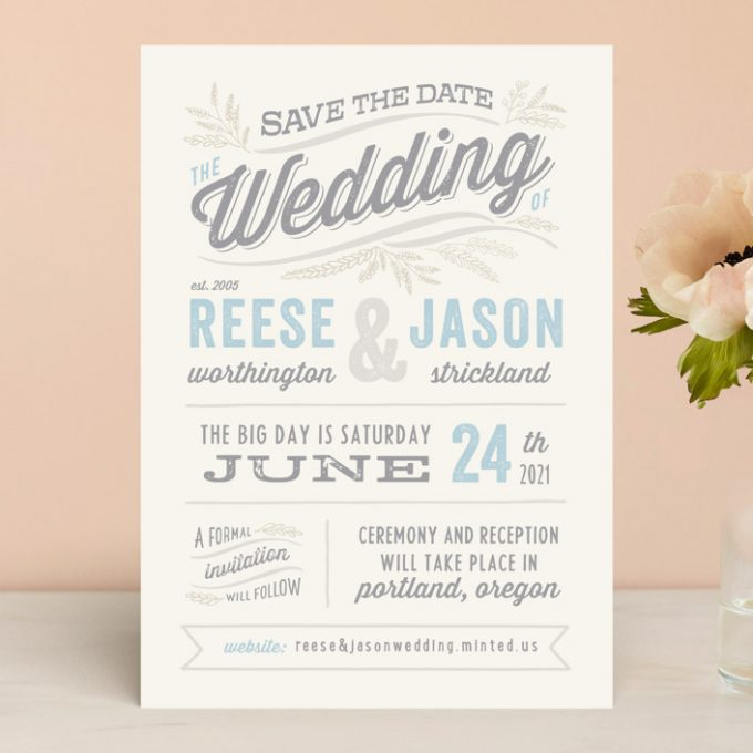 casual save the date ideas