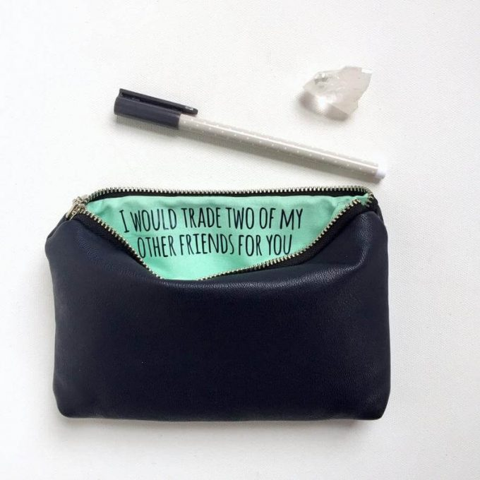 secret message makeup bags