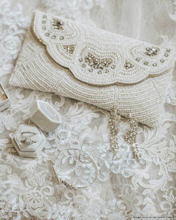 beach bridal clutch