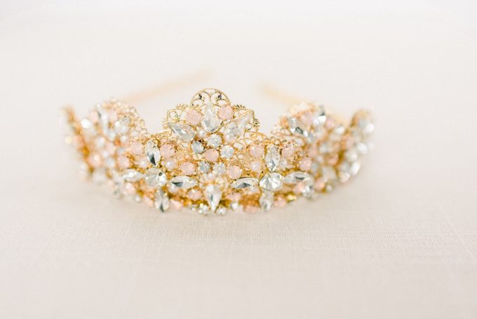 Blush and Gold Tiara Crown