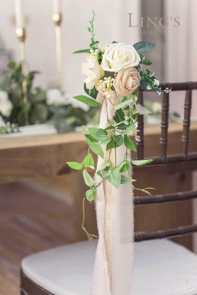 cheap wedding aisle chair decorations