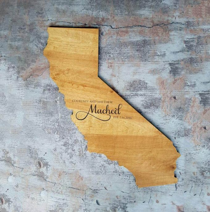 california state shaped guest book
