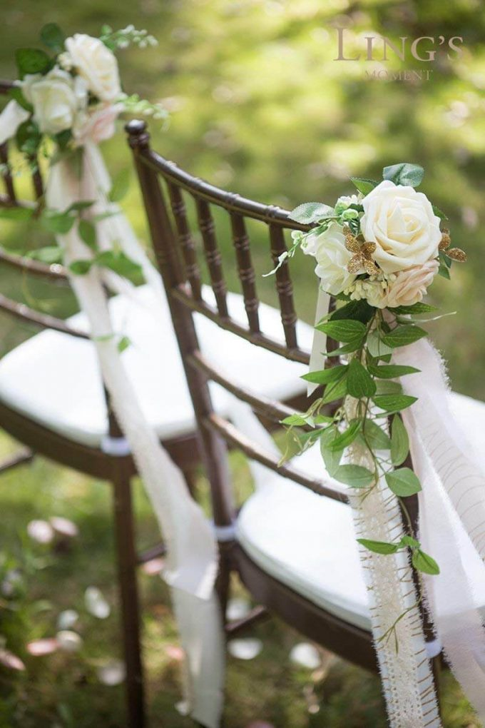 wedding aisle chair decorations