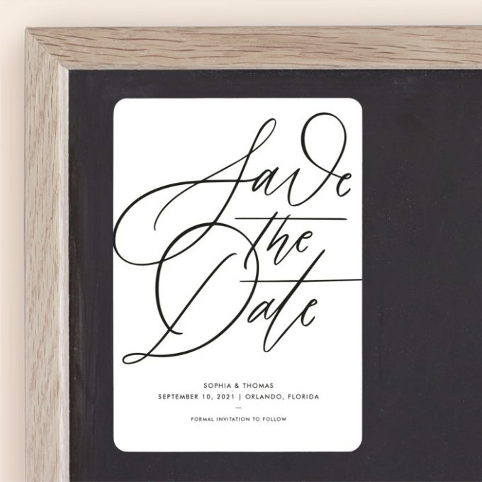 save the date cards with no photo