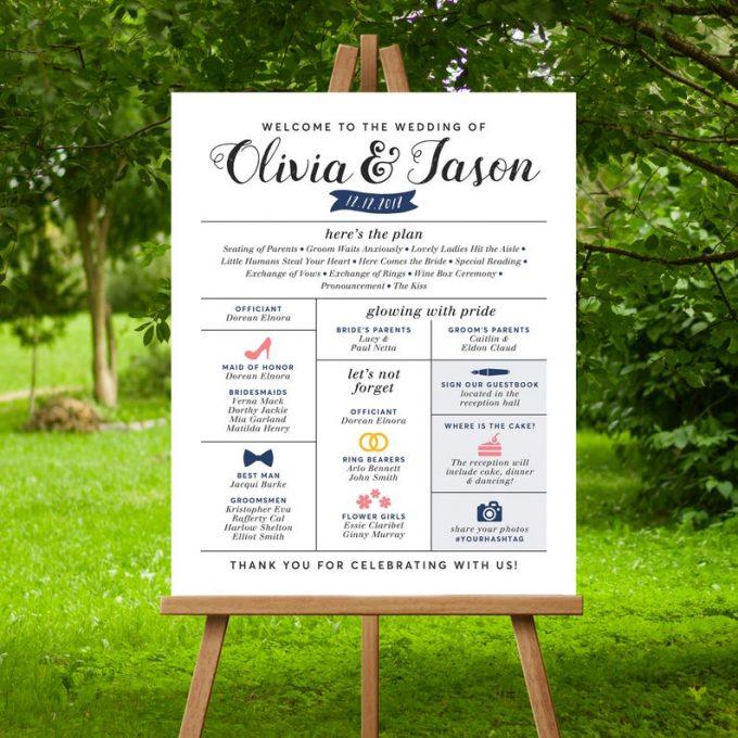 alternatives to printed wedding programs #infographic #weddingprogram