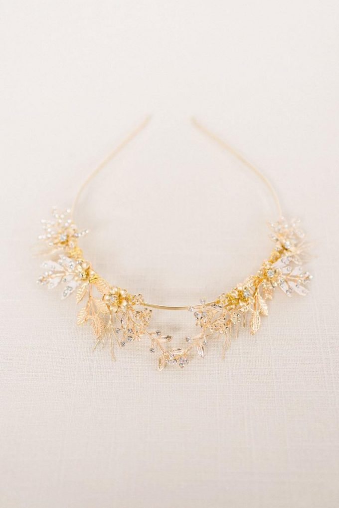 Gold Woodland Tiara