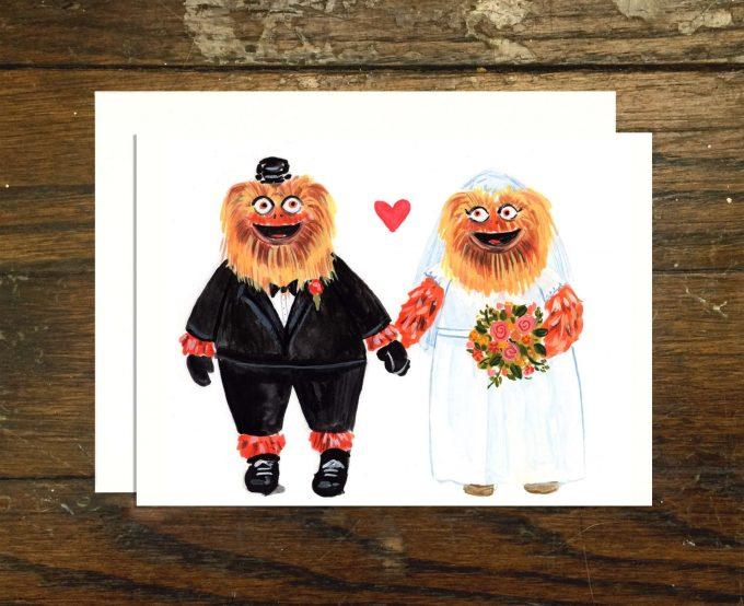 philadelphia wedding ideas - gritty wedding card
