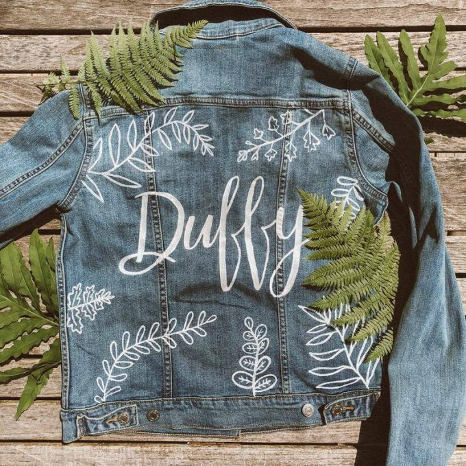 bridesmaid denim jackets
