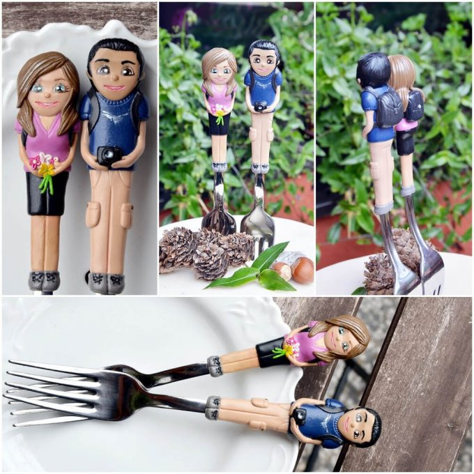 custom wedding forks