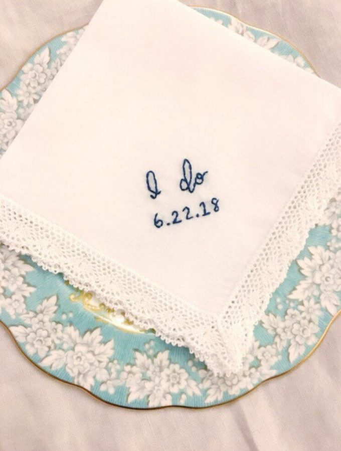 where to buy bride handkerchief - I Do hanky