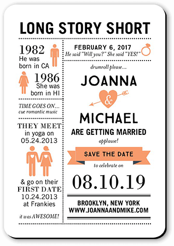 save the date magnets infographic style
