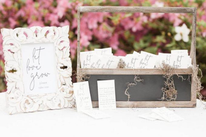 seed packets - best spring wedding favors