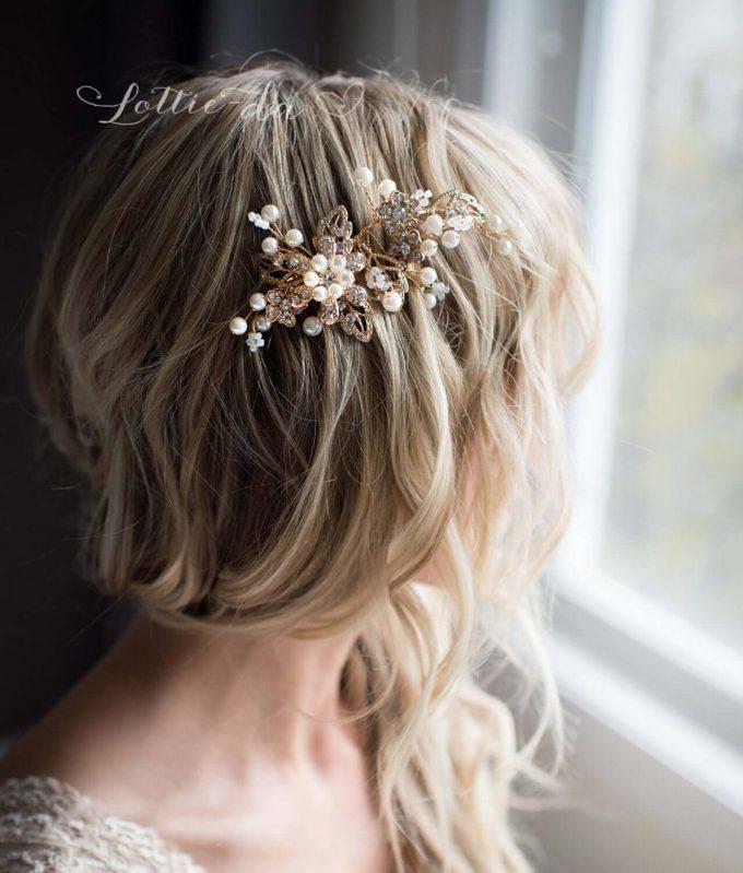 bridal boho hair comb