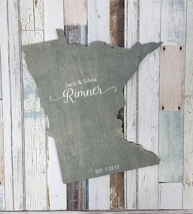 minnesota state shaped guest book