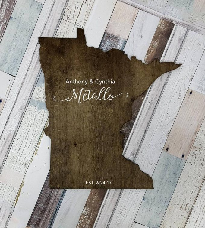 minnesota shaped guest book alternative