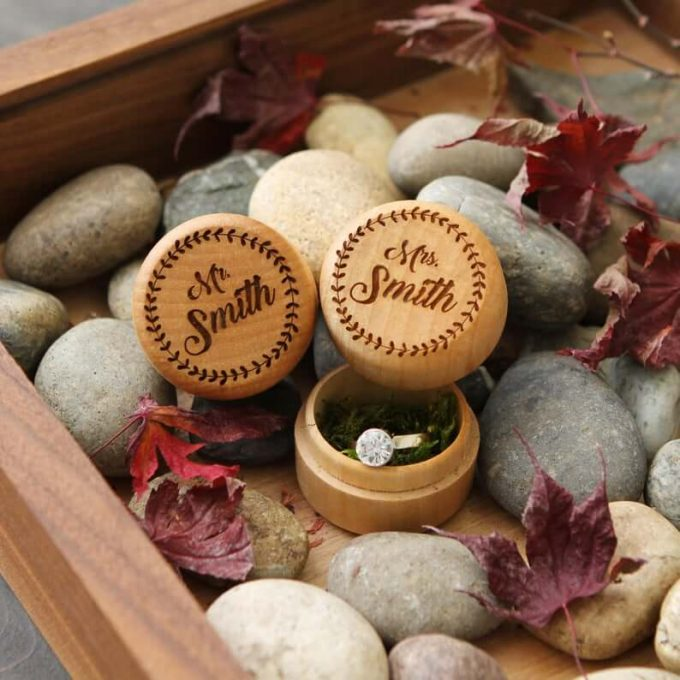 rustic wedding ring boxes
