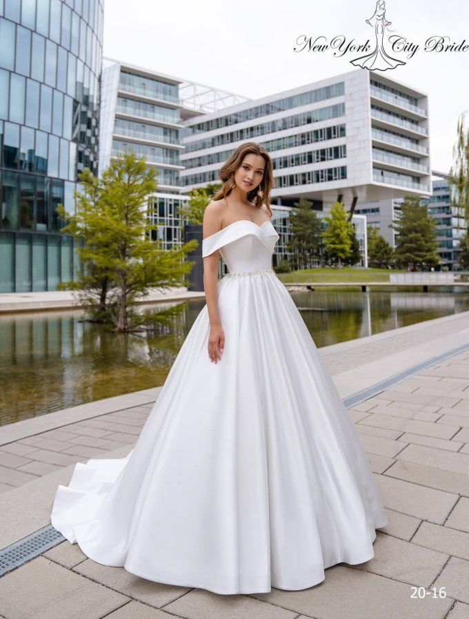 off-the-shoulder wedding dresses a line
