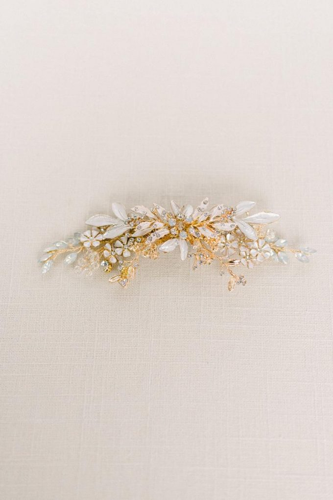 Opal and Gold Rhinestone Headpiece