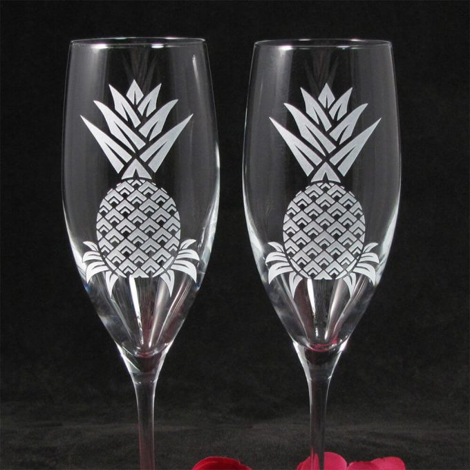pineapple champagne flutes