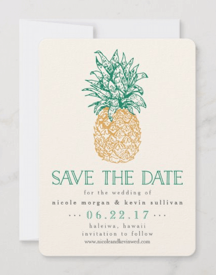 pineapple save-the-dates