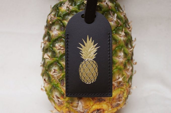 pineapple luggage tags