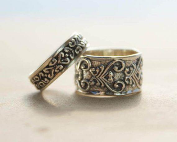handmade wedding ring sets for couples