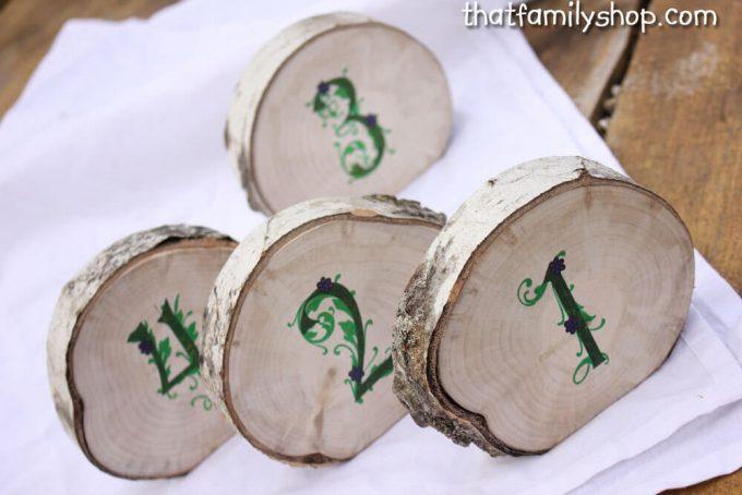 tree slice table numbers
