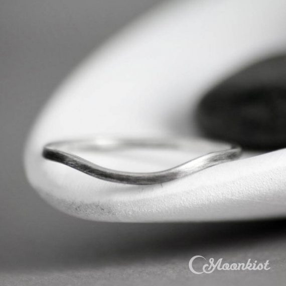 simple curved wedding band