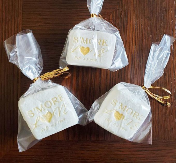 personalized marshmallows for s'mores