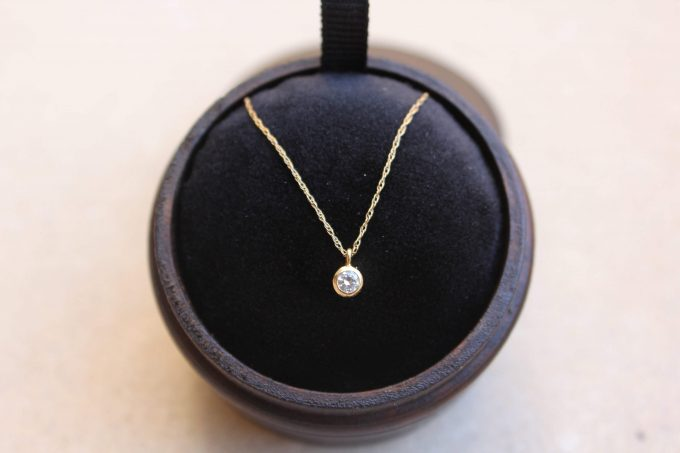 diamond minimalist necklace