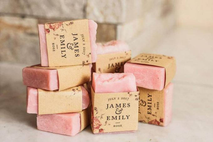best spring wedding favors - soap
