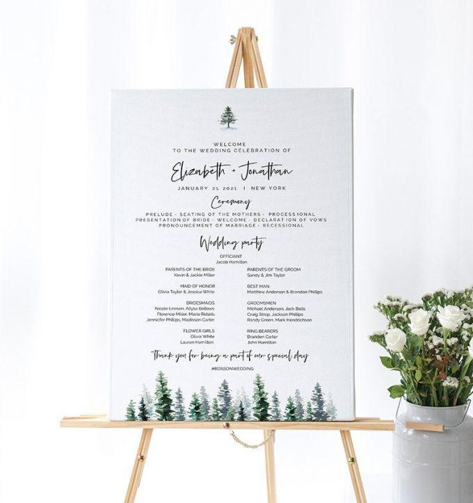 alternatives to printed wedding programs