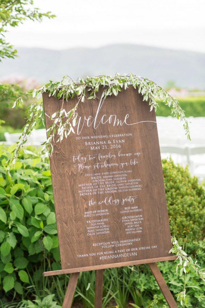 ceremony program sign
