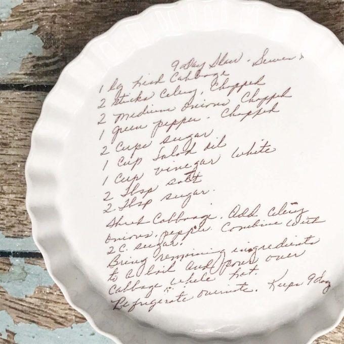 pie pan via etsy wedding registry