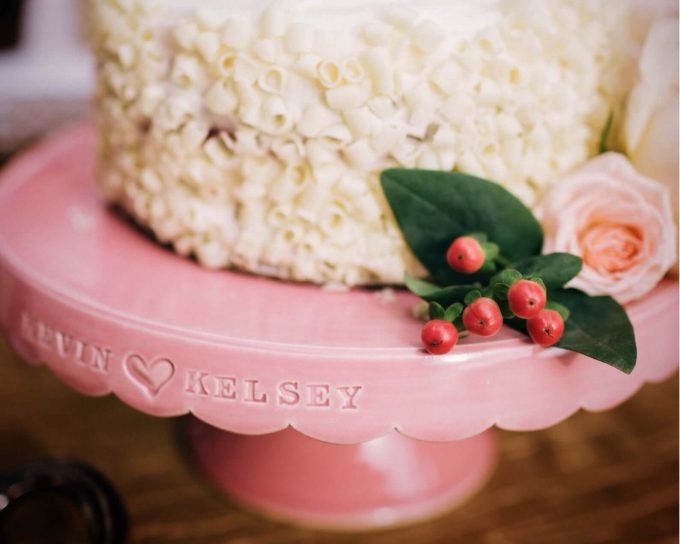 personalized cake stand via etsy wedding registry