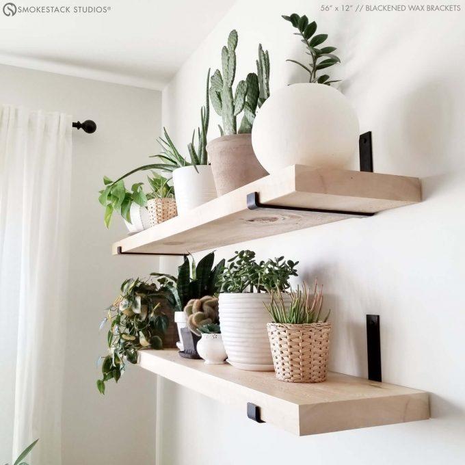 floating shelves via etsy wedding registry