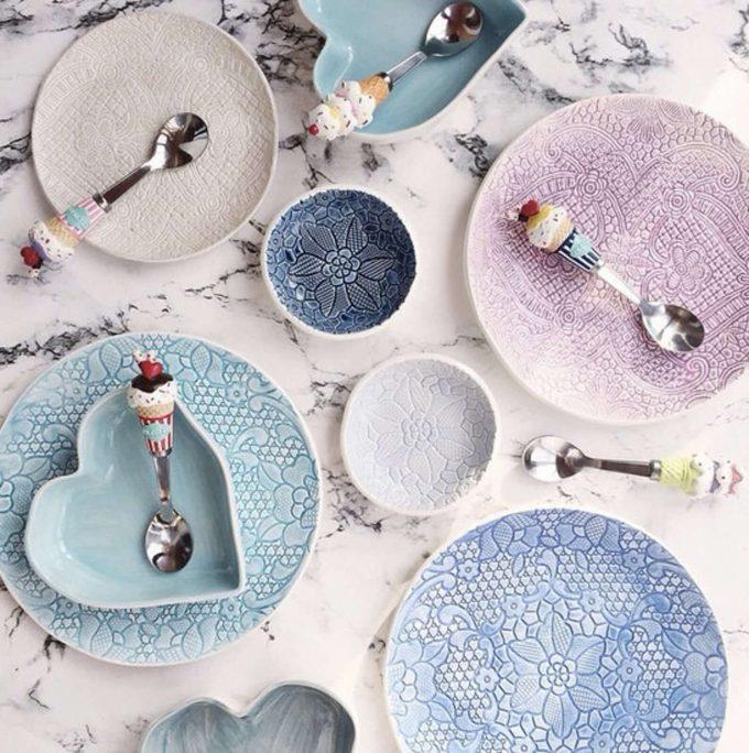 ceramic plates via etsy wedding registry