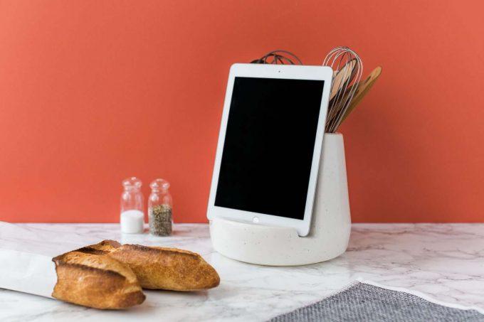 kitchen tablet dock via etsy wedding registry