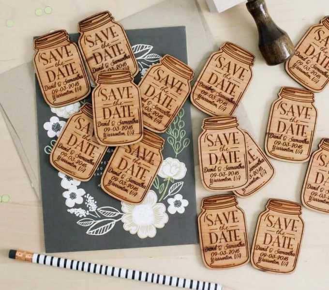 wood save the dates