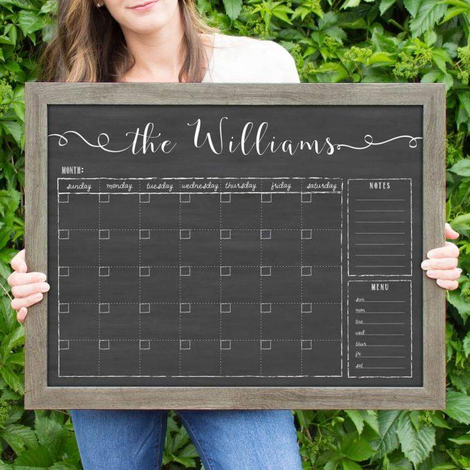 personalized dry erase board via etsy wedding registry