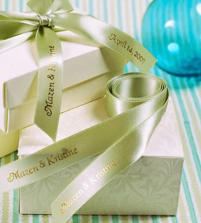 personalized wedding favor ribbons